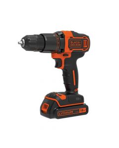 Black & Decker 2 Gear Hammer Drill 18V 1 x 1.5Ah Li-ion - B/DBCD700S1K