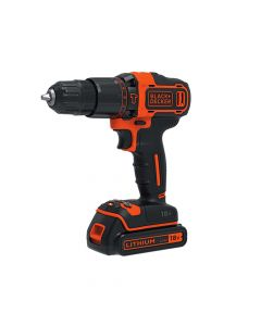 Black & Decker 2 Speed Combi Drill 18V 1 x 1.5Ah Li-Ion - B/DBDCHD18K