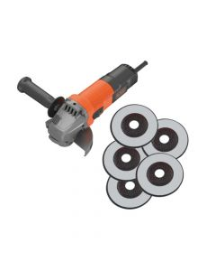 Black & Decker 750W 115mm Mini Grinder 750W 240V - B/DBEG110A5