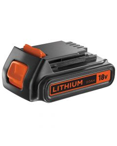 Black & Decker Slide Battery Pack 18V 2.0Ah Li-Ion - B/DBL2018