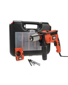 Black & Decker Impact Hammer Drill With Free Detector 710W 240V - B/DCD714EDSK