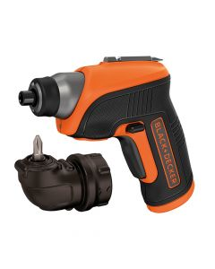 Black & Decker Cordless Screwdriver & Right Angle Attachment 3.6V Li-Ion - B/DCS3652LC