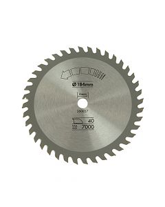 Black & Decker Circular Saw Blade 184 x 16mm x 40T Fine Cross Cut - B/DX13025