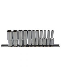 BlueSpot Tools Deep Socket Set of 11 Metric 1/4in Square Drive - B/S01540