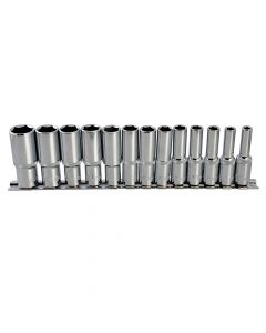 BlueSpot Tools Deep Socket Set of 13 Metric 3/8in Square Drive - B/S01542