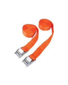 BlueSpot Tools Cam Buckle Tie-Down Straps Twin Pack 2.5m - B/S45404