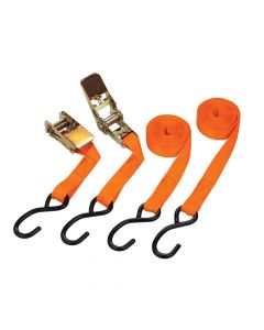 BlueSpot Tools Ratchet Tie-Down Set 25mm x 4.5m - B/S45407