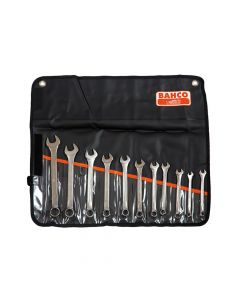 Bahco Metric Chrome Polished Combination Spanner Set, 11 Piece - BAH111MSET11