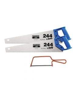Bahco 2 x 244 Hardpoint Handsaw 500mm (20in) & 1 x 239 Junior Saw 150mm (6in) - BAH24422239
