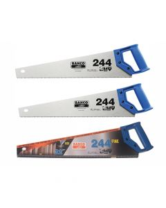 Bahco 2 x 244 Hardpoint Handsaw 550mm (22in) & 1 x 244 Fine Cut Handsaw 550mm (22in) - BAH24422FCS