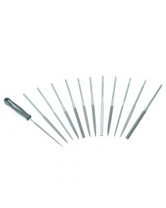 Bahco Needle Set of 12 Cut 2 Smooth 2-472-16-2-0 160mm (6.2in) - BAH472