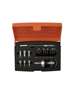 Bahco 808050S-18 Stubby Ratchet Screwdriver Set of 18 - BAH808050S18