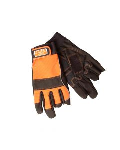 Bahco Carpenter's Fingerless Gloves - Medium (Size 8) - BAHGL0128