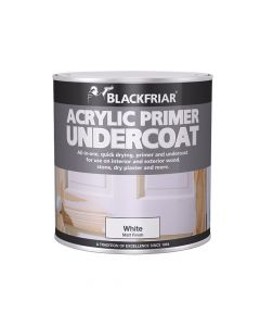 Blackfriar Quick Drying Acrylic Primer Undercoat Grey 1 Litre - BKFGAP1L
