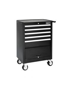 Expert Roller Cabinet 5 Drawer + Compartment - Black - BRIE010141B