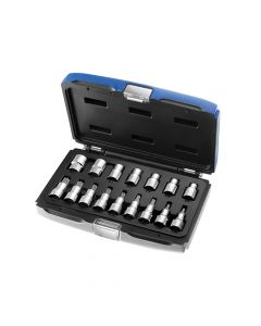 Expert Socket Set of 16 TORX 1/2in Drive - BRIE032907B