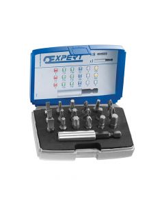 Expert 1/4in Bit Set 19 Piece + Bit Holder - BRIE113901B