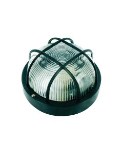 Byron Black Plastic Bulkhead Light - No Bulb - BYRBE100Z