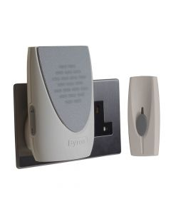 Byron Wireless Doorbell with Plug In Chime 100m - BYRBY202
