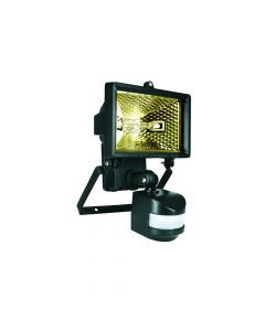 Byron Halogen Floodlight With PIR Black 120 Watt - BYRES120