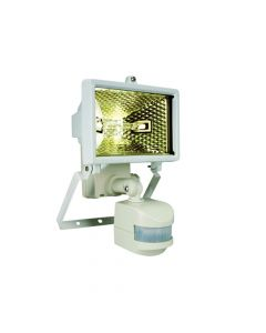 Byron Halogen Floodlight With PIR White 120 Watt - BYRES120W
