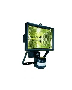 Byron Halogen Floodlight with PIR Black 400 Watt - BYRES400