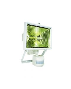 Byron Halogen Floodlight with PIR White 400 Watt - BYRES400W