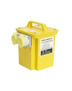 Carroll & Meynell Transformer Twin Outlet Rating 3.3kVA Continuous 1.65kVA - C/M33002