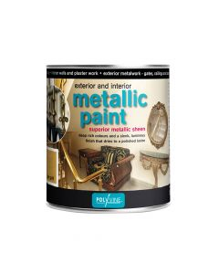 Polyvine Exterior & Interior Metallic Paint Silver 500ml - CASMPS500