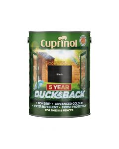Cuprinol Ducksback 5 Year Waterproof for Sheds & Fences Black 5 Litre - CUPDBBL5L