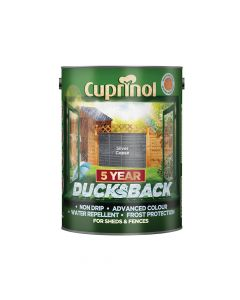 Cuprinol Ducksback 5 Year Waterproof for Sheds & Fences Silver Copse 5 Litre - CUPDBSC5L