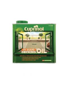 Cuprinol UV Guard Decking Oil Natural 2.5 Litre - CUPDON25L