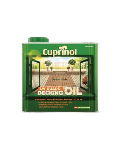 Cuprinol UV Guard Decking Oil Natural Cedar 2.5 Litre - CUPDONC25L