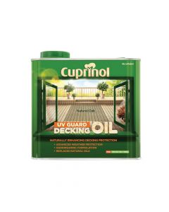 Cuprinol UV Guard Decking Oil Natural Oak 2.5 Litre - CUPDONO25L