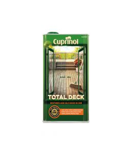 Cuprinol Total Deck Restore & Oil Wood Clear 5 Litre - CUPTDC5L
