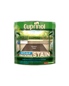 Cuprinol Anti-Slip Decking Stain Boston Teak 2.5 Litre - CUPUTDSBT25L