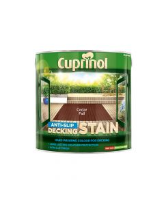 Cuprinol Anti-Slip Decking Stain Cedar Fall 2.5 Litre - CUPUTDSCF25L