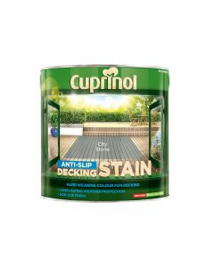 Cuprinol Anti-Slip Decking Stain City Stone 2.5 Litre - CUPUTDSCS25L