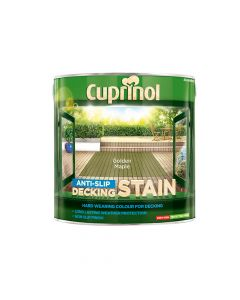 Cuprinol Anti-Slip Decking Stain Golden Maple 2.5 Litre - CUPUTDSGM25L