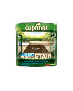 Cuprinol Anti-Slip Decking Stain Hampshire Oak 2.5 Litre - CUPUTDSHO25L
