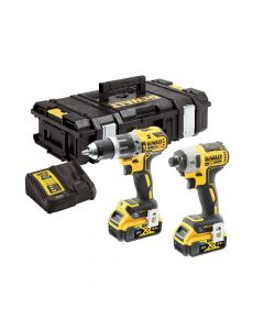 DEWALT XR Brushless Tool Connect Twin Pack 18V 2 x 5.0Ah Li-ion - DEWDCK2500P2