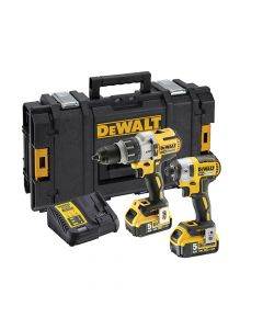 DEWALT Brushless Twin Pack 18V 2 x 5.0Ah Li-ion - DEWDCK276P2