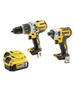 DEWALT Brushless Bluetooth Twin Pack 18V 2 x 5.0Ah Bluetooth Li-ion - DEWDCK276P2B