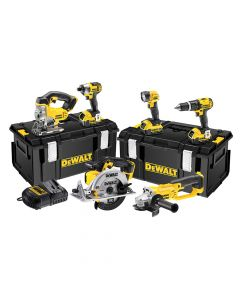 DEWALT Cordless 2 Speed 6 Piece Kit 18V 3 x 4.0Ah Li-ion - DEWDCK691M3