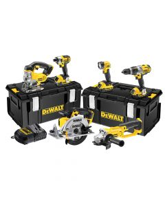 DEWALT Cordless 3 Speed 6 Piece Kit 18V 3 x 4.0Ah Li-ion - DEWDCK692M3