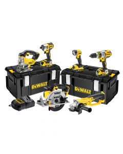 DEWALT Brushless 3 Speed 6 Piece Kit 18V 3 x 5.0Ah Li-ion - DEWDCK694P3
