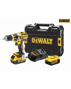 DEWALT XR 2 Speed Combi Drill 18V 1 x 4.0Ah & 1 x 5.0Ah Li-ion - DEWDCKD795PM