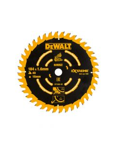 DEWALT Cordless Mitre Saw Blade For DCS365 184 x 16mm x 40T - DEWDT1668QZ