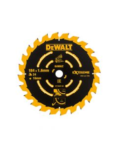 DEWALT Cordless Mitre Saw Blade For DCS365 184 x 16mm x 24T - DEWDT1669QZ