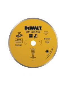 DEWALT Ceramic Diamond Tile Blade 254 x 25.4mm - DEWDT3733XJ
